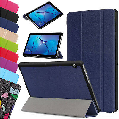 "Smart Magnetic Leather Stand Slim Case Cover Huawei MediaPad T3 7.0"" 8"" 10"" UK"