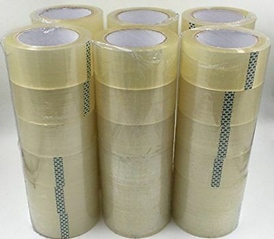 """Packing Tape 36 Rolls 2"""" x 110 Yards (330' ft) Box Carton Sealing Clear 2 Mil"""