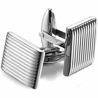 Cuff Links Mens High-Polished 316L Stainless Steel Cufflinks With Gift Box