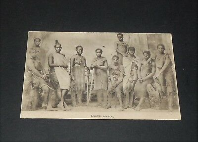Rare Cpa Carte Postale 1907 Afrique Du Sud Groupe Zoulou South Africa