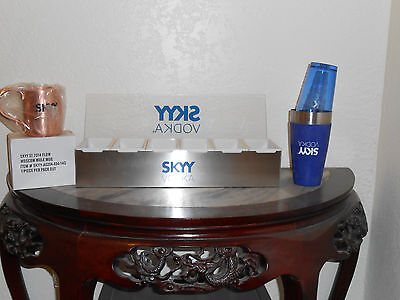 Skyy Vodka Moscow Mule Cooper Mug Set of 2, Shaker, and 6 condiment holder