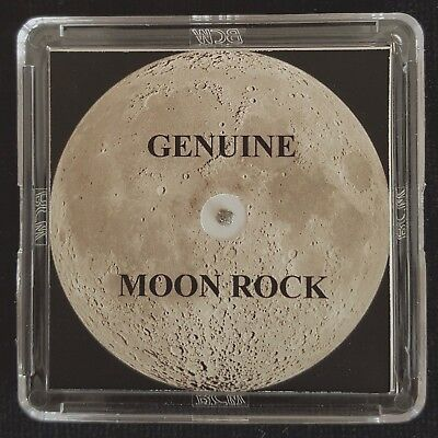 BASIC EDITION- AUTHENTICATED LUNAR METEORITE- 4mg Moon Rock Display+Certificate