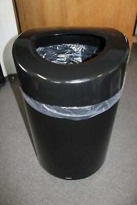 NEW Safco Products 9920BL Open Top Trash Can, 30-Gallon, Black
