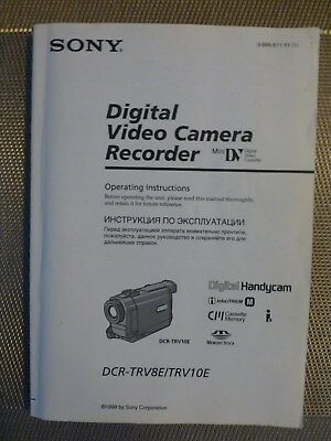Sony Video Operating Instructions DCR-TRV8E and 10E