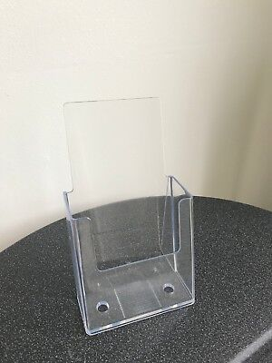 Clear acrylic trifold brochure holders- lots of 10