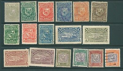 DOMINICAN REPUBLIC mint & used stamp collection 1880-1911