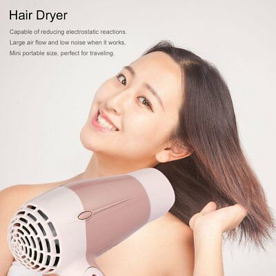 Mini Portable Foldable Handle 1000W Hair Dryer Blow Dryer Hot Wind Low Noise BB