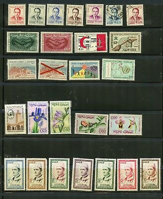 MOROCCO--Lot of 47 different stamps