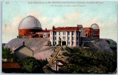 "San Jose, California Postcard ""Lick Observatory on Mt. Hamilton"" CVC 1910 Cancel"