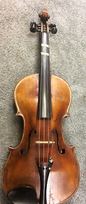 jacobus stainer in absam 1698 prope oenipontum 4/4 violin with MELLO bow REPAIR!