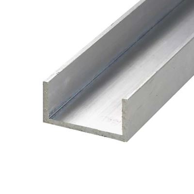 6063-T52 Aluminum Channel, 1 inch x 1 inch x 48 inches, Thickness: 1/8 inch