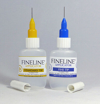 Fineline™ Applicator 2x Single Packs. 1 Fine Tip and 1 Standard Tip. Non-clog