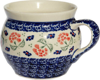 Polish Pottery Potbelly Coffee Mug 16 oz. from Zaklady Boleslawiec GU910/963
