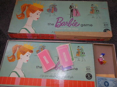 Vintage Mattel The Barbie Game Board Game Queen of the Prom COMPLETE