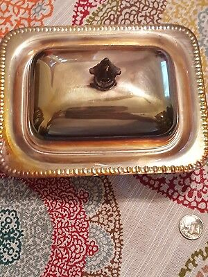 The Sheffield Silver Butter Tray Made In USA vintage