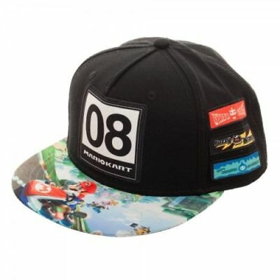 Authentic Nintendo Mario Kart Youth Omni Color Sublimated Snapback Hat NEW