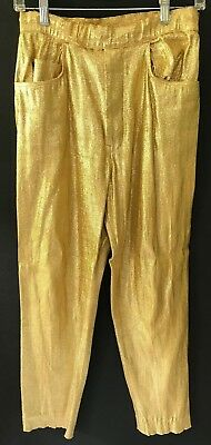 LEVI'S CALIFORNIA RANCH PANTS SIZE SM 26 x 27 GOLD LAME YOU MUST SEE THESE!