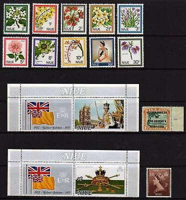 NIUE, MUH 1969 Definitives (10) + Silver Jubilee Issues
