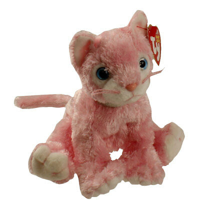 TY Beanie Baby - CARNATION the Pink Cat (6 inch) - MWMTs Stuffed Animal Toy