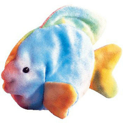 TY Beanie Baby - CORAL the Ty-dyed Fish (4th Gen hang tag) (6 inch) - MWMTs