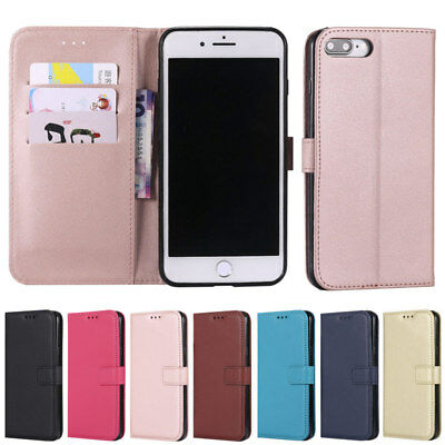 Slim Wallet Leather Flip Case Cover For iPhone 5 5S SE 6 6S 7 8 Plus X XR XS Max