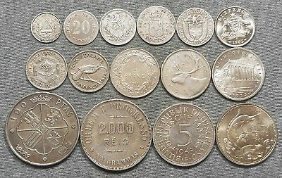 Lot Of 15 World Silver Coins