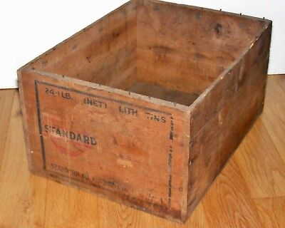 Extremely Rare Standard Oil Co. Of Louisiana Wooden Crate Axle Grease 1909-1944