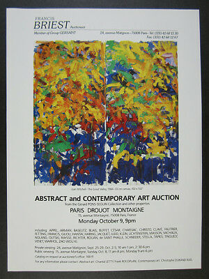 1989 Joan Mitchell The Great Valley painting Paris auction vintage print Ad