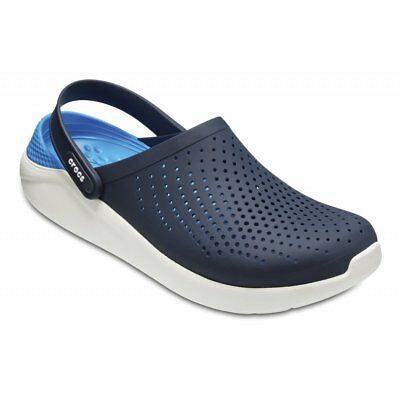 4dbaab7bde1 NEW Crocs Lite Ride Relaxed Fit Clog Shoes Sandals Navy White 204592-462