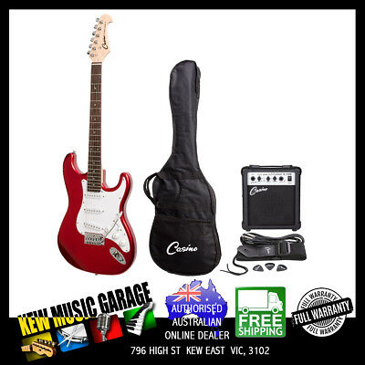 Casino St-Style Electric Guitar And 10 Watt Amplifier Pack Candy Apple Red
