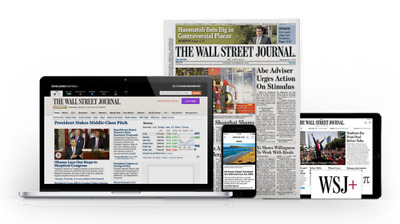 Wall Street Journal Subscription WSJ 1 Year Print and Digital Access