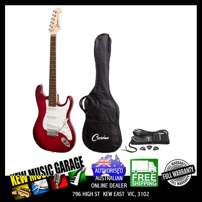 Casino St-Style Electric Guitar Set Trans Wine Red