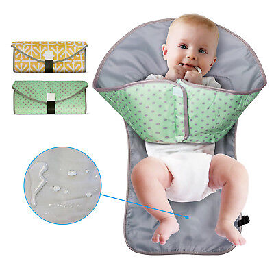 US Clean Hands Changing Pad Portable Baby 3in1 Cover Mat Folding Diaper Bag NEW