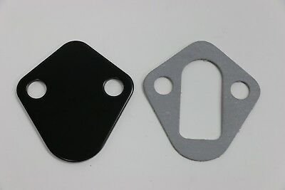 Redhorse Fuel Pump Block-Off Plate 4810-454-5; Clear Anodized Aluminum for BBC