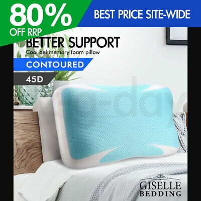 Giselle Bedding COOL GEL Memory Foam Pillow High Density Contour 12CM Thick
