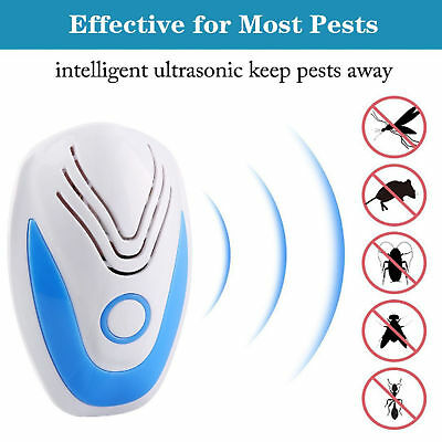 Ultrasonic Pest Repeller Electronic Rat Mouse Mice Spider Insect Deterrent Plug