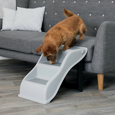 Dog Pet Puppy Plastic Foldable Stairs Folding Ramp Access 3 Steps Lightweight
