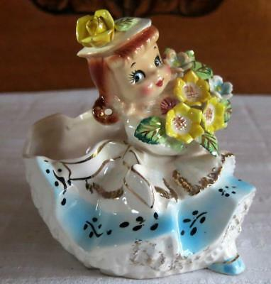 Vintage/collectable Japanese Porcelain Lady Posie Vase