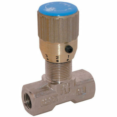 Hydraulic In-Line, Bi-Directional, Flow Control and Shut Off BSPP Needle Valve