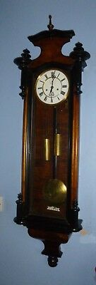 A Fine Early Double Weight Vienna Wall Clock By Gustav Becker
