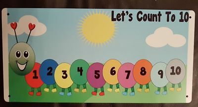 COUNTING TO 10- OUTDOOR SIGN- WEATHERPROOF- Childminder/Nursery/Home- EYFS-METAL