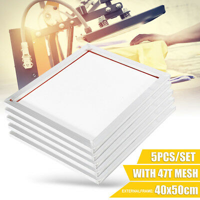 """5 Pack - 16"""" x 20"""" Aluminum Frame With 47T Silk mesh White Printing Screens US"""
