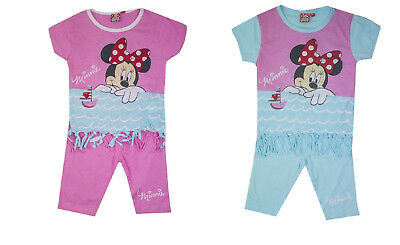 Girls Minnie Mouse Shorts & T-Shirt Set