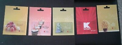5 Kmart  / Sears Gift Cards Gumdrops, Cupcakes, Happy Flowers, Baby Joy, Mint