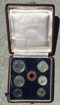 Pakistan Proof Coin Set 1948 - 7 Coins In Box