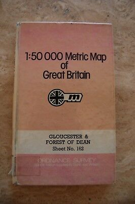 Ordnance Survey 1:50000 Metric 'Gloucester&Forest of Dean' Laminated Map/Poster