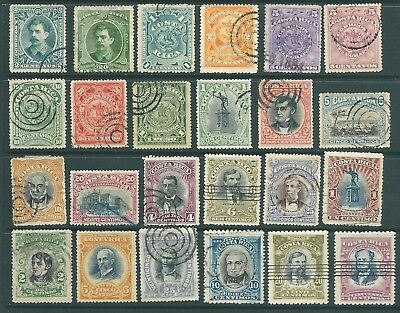 COSTA RICA used stamp collection from 1889-1907