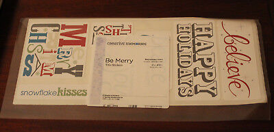 BNIP CREATIVE MEMORIES Scrapbooking 'Be Merry' Christmas Holidays Title Stickers