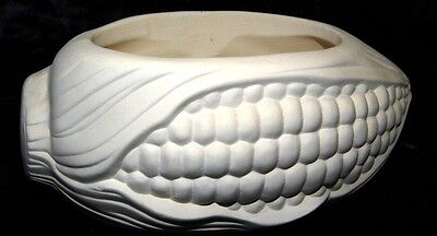 Ceramic Ready to Paint Bisque Corn  Scrubbee  ( steel or nylon Scrubber Holder )