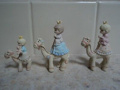 1990 Precious Moments 3 Kings W/ Crowns On Camels--#613002- Buy It Now